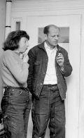 Jackson Pollock e Lee Krasner, Springs, New York, 1949. Foto di Martha Holmes-Time & Life Pictures