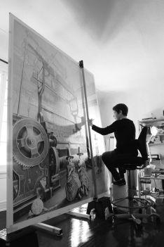 Laurie Lipton nel suo studio