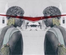 Leonardo Boscani - Genti d'Eritrea Cunama aprile 1959 - elaborazione stampa digitale su tela 100x140cm
