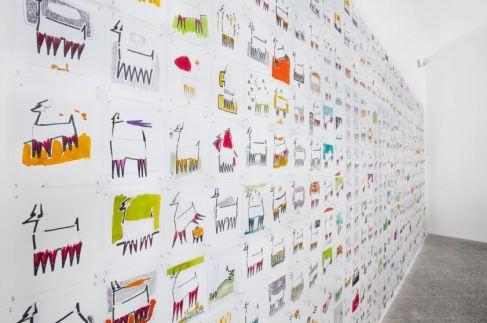 Leonardo Boscani - Progetto per la Fondazione Chichiarelli, 2014 - Disegno di fattibilità per l'allevamento del cervo semibrado nel territorio di Monte Rosè