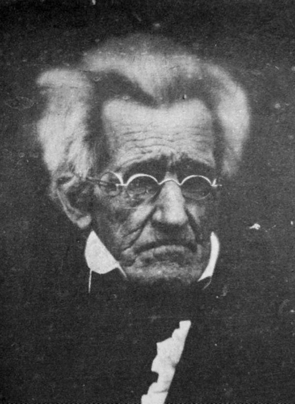 L'ex presidente americano Andrew Jackson, 78 anni, 1845