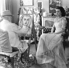 Matisse con modella in studio
