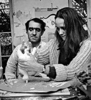 Niki de Saint Phalle con Jean Tinguely