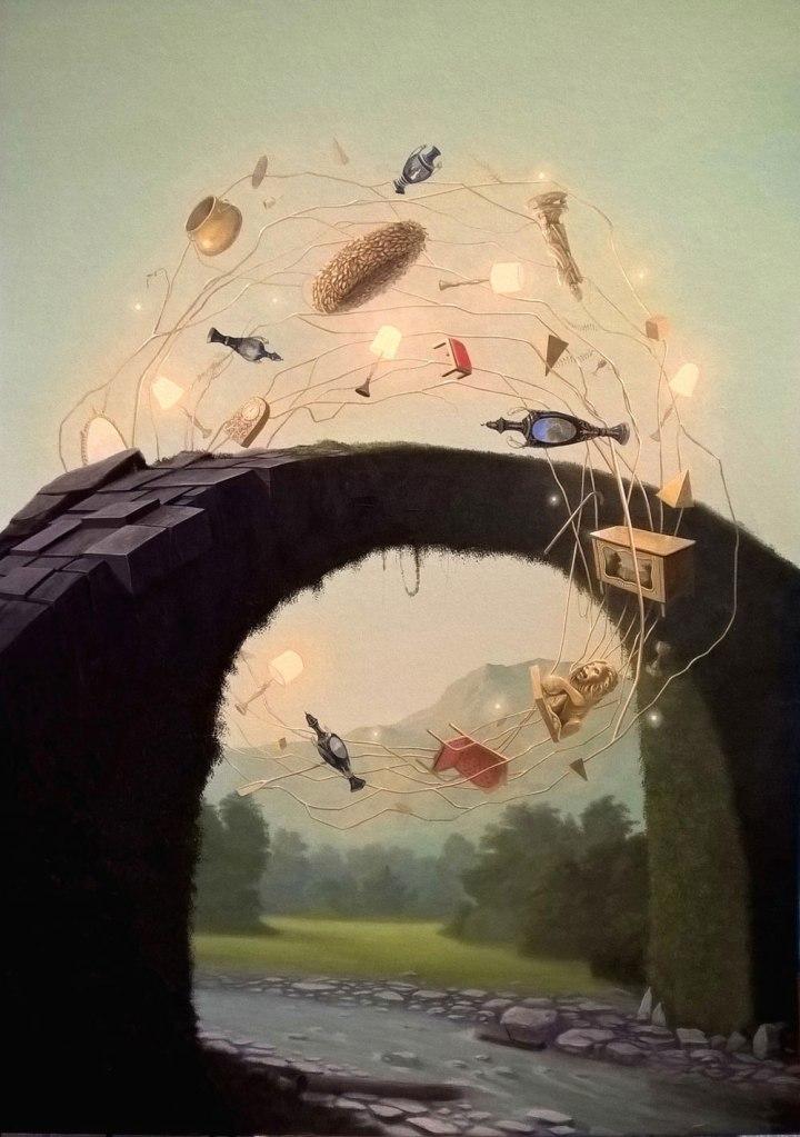 Paolo Pibi - Fake golden circle - acrylic on paper (70x50 cm 2016)