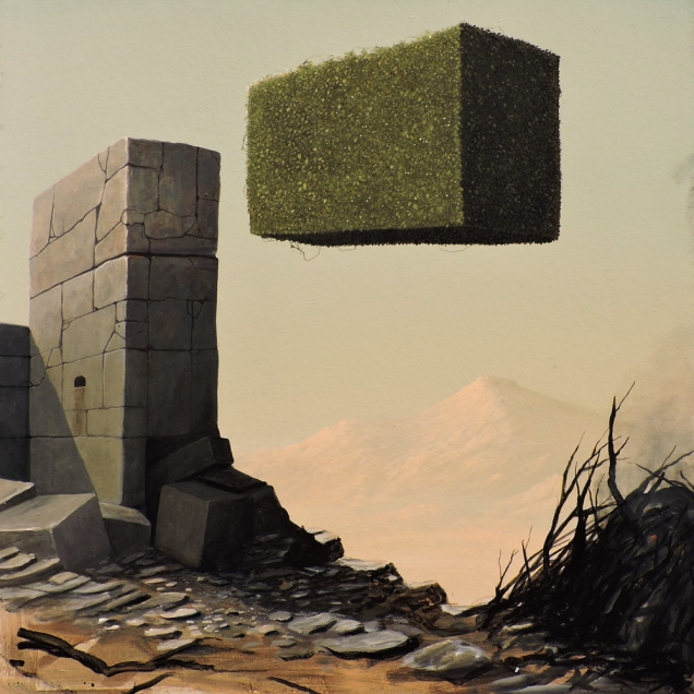 Paolo Pibi - Senza titolo 4 - acrilico su cartone vegetale (50x50 cm 2015)