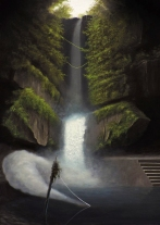 Paolo Pibi - Waterfall - acrylic on paper(50x30 cm 2016)