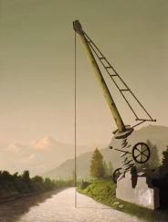 Paolo Pibi - Weight - acrilico su cartone vegetale (70x50 cm 2015)