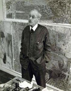 Pierre Bonnard nel suo studio Le Cannet, 1941 / André Ostier / sc