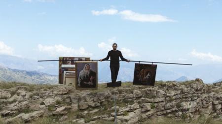 Biennale Arte 2017 - Padiglione Centrale (Giardini): Tightrope (2015), video by Taus Makhacheva (Russia)
