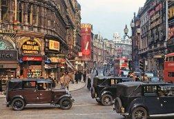 Una foto colorata di Londra negli anni '30