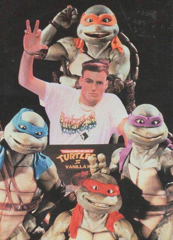Vanilla Ice con le Tartarughe Ninja, 1990