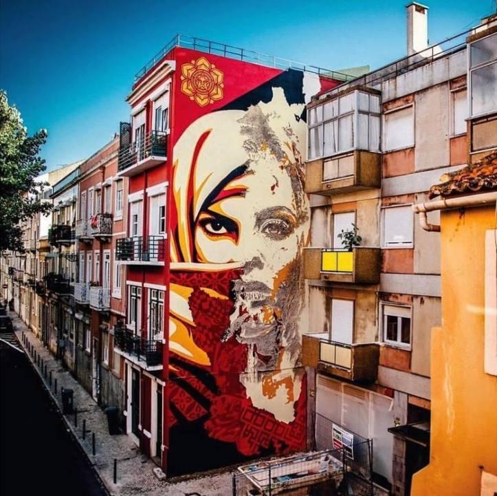 Vhils & Obey Giant @Lisbon, Portugal