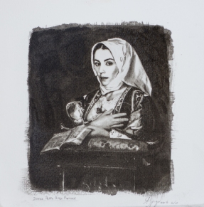 Alessandro Spiga - gomma bicromata - Donna Peppa Rosa Pintore