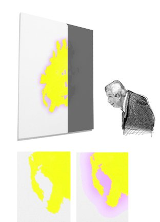 Giovanni Casu - greys-painting, neon gelb 808 (2012)