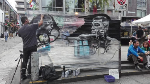 Dublino - Live painting