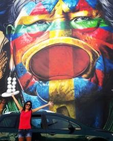 Lisbona - Itinerario street art- Festival MURO: Eduardo Kobra