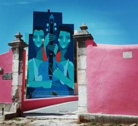 Lisbona - Itinerario street art- Festival MURO: Zesar Bahamonte