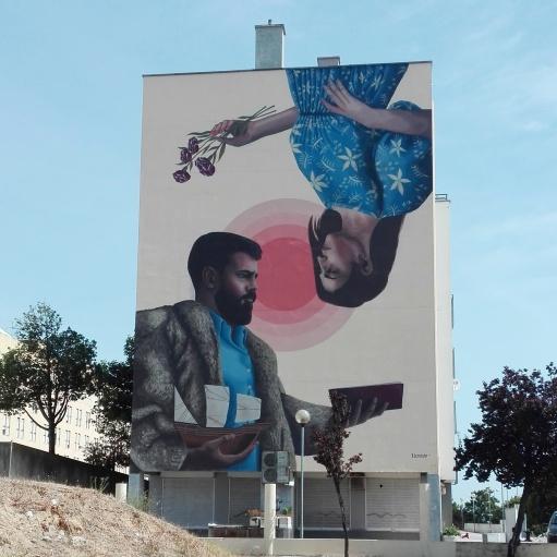 Lisbona - Itinerario street art- Festival MURO: Colectivo Licuado