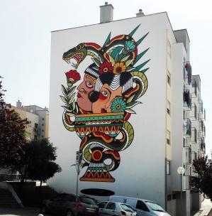 Lisbona - Itinerario street art- Festival MURO: Miguel Brum
