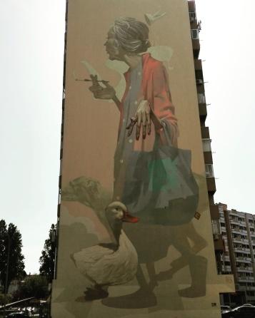Lisbona - Itinerario street art: Sainer (Etam Cru)