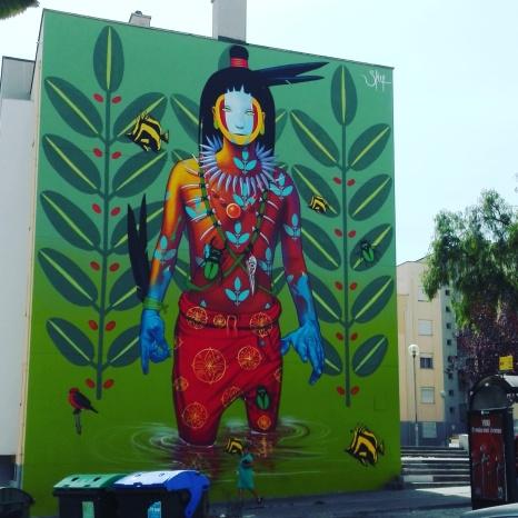 Lisbona - Itinerario street art- Festival MURO: Steep