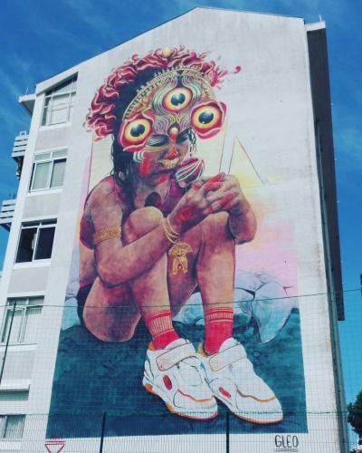 Lisbona - Itinerario street art- Festival MURO: Gleo