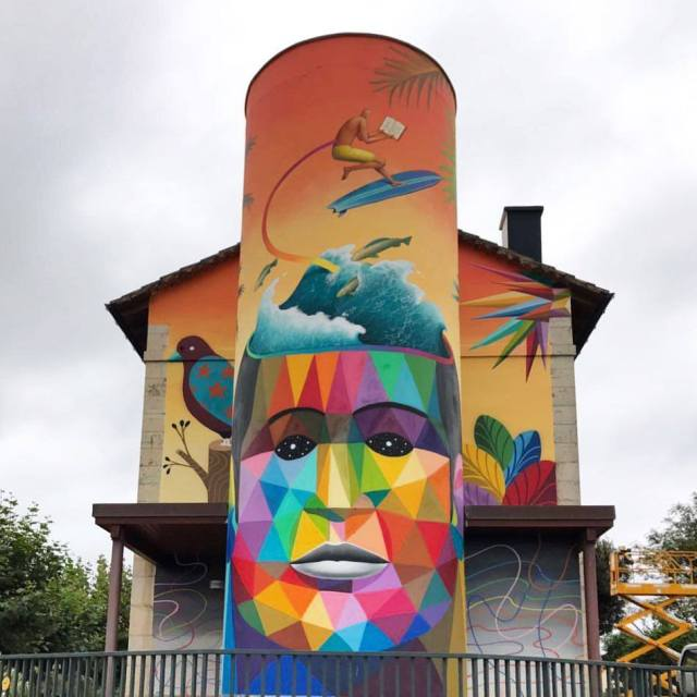 Okudart & WAONE @Somo, Cantabria, Spain
