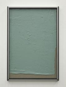 Pedro Cabrita Reis - Les Gris #1 - 2012, alluminio, doppio vetro stratificato e acrilico su tela grezza, 171,5x121,5x13,5 cm