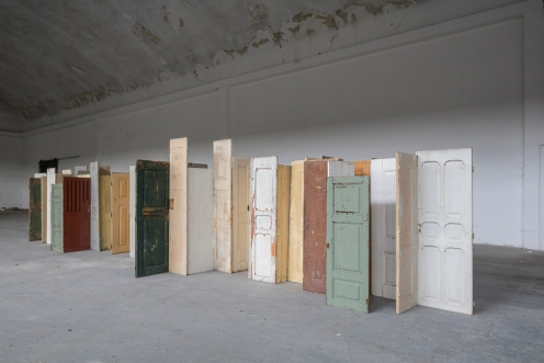 Pedro Cabrita Reis South Wing, 2016 wood circa 12 x 3 x 2,5 meters Art Unlimited, Basel 13 June 2016