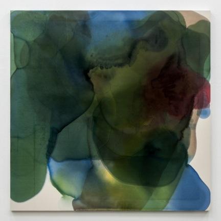 Pedro Cabrita Reis - The Omar paintings #6 (second series), 2013 - Aniline on canvas - 200 x 200 cm