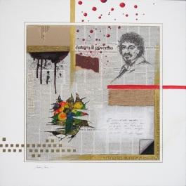 Sandro Serra - Caravaggio, Proust e l'arte - 70x70 - 2011