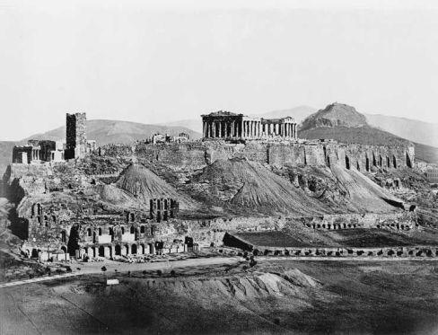 Atene, l'Acropoli nel 1850