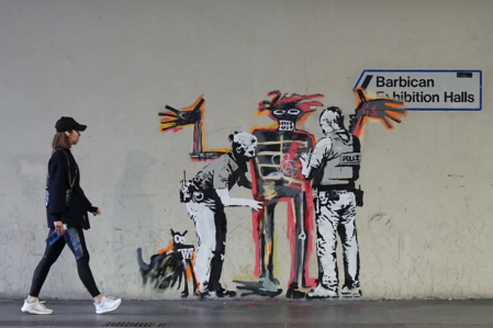 Banksy (for Basquiat) @London, UK