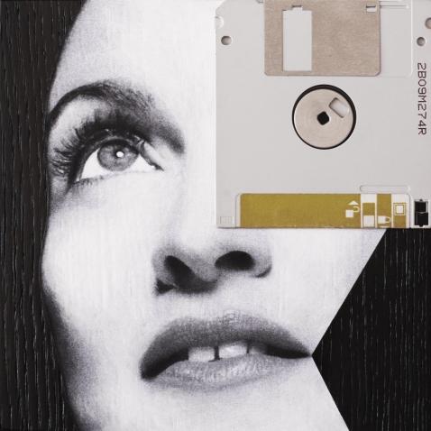 Claudio Rosa - FLOP Y 01 (6 x 18,0 x 18,0 cm - tecnica mista)