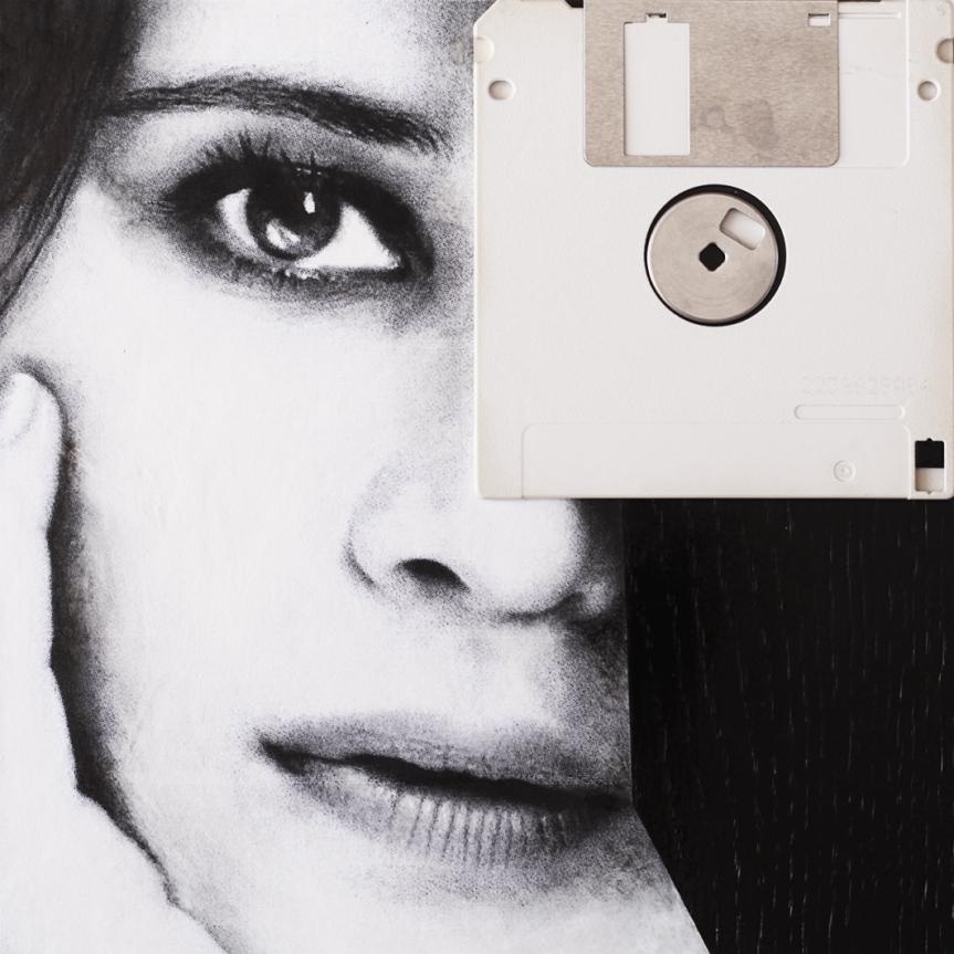 Claudio Rosa - FLOP Y 09 (6 x 18,0 x 18,0 cm - tecnica mista)