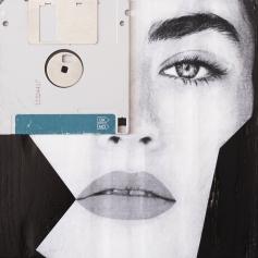 Claudio Rosa - FLOP Y 14 (6 x 18,0 x 18,0 cm - tecnica mista)