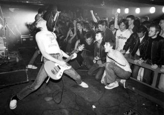 I Ramones all'Eric's Club di Liverpool, Inghilterra, 1977