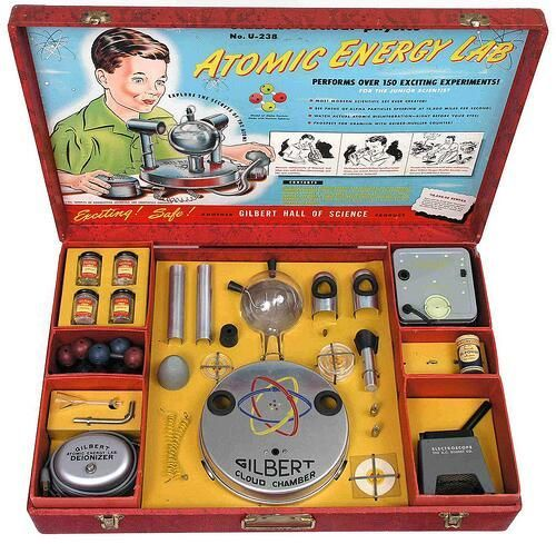 Il piccolo laboratorio dell'atomico, anni '50