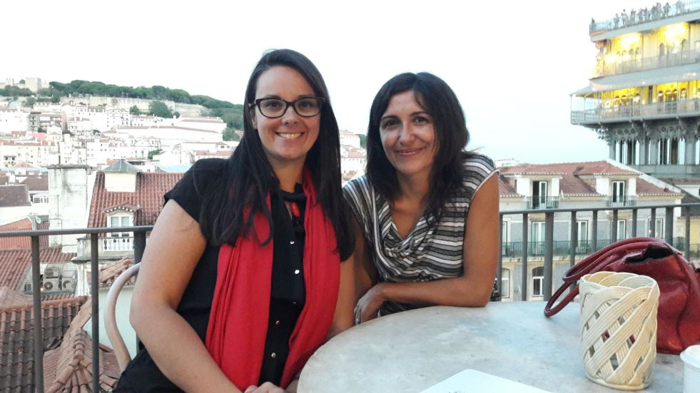 Lisbona - Dopo 4 anni virtuali finalmente un brindisi reale con Liliana Navarra