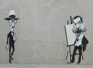 Aeroporto di Lisbona - A darmi il benvenuto il pittore Columbano Bordalo Pinheiro e lo scrittore Fernando Pessoa