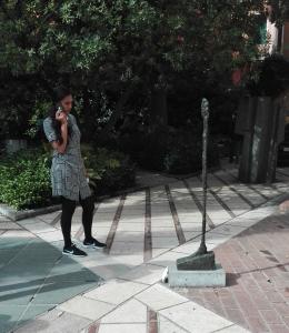 """""""Donna in piedi (Donna ''Leoni"""")"""" (1947) by Alberto Giacometti @ Peggy Guggenheim Collection"""