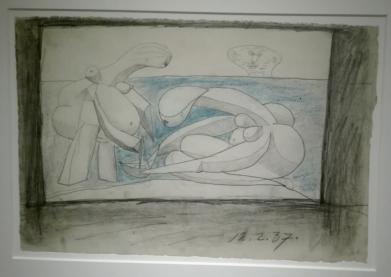 """""""Picasso. Sulla Spiaggia"""" (disegni preparatori) @ Collezione Peggy Guggenheim"""
