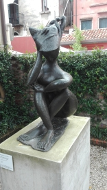 """Grande donna seduta (Sibilla)"" (1947) by Pericle Fazzini @ Peggy Guggenheim Collection"