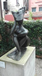 """""""Grande donna seduta (Sibilla)"""" (1947) by Pericle Fazzini @ Peggy Guggenheim Collection"""