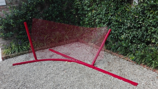 """""""Cardine (Hinge)"""" (1966) by Anthony Caro @ Peggy Guggenheim Collection"""