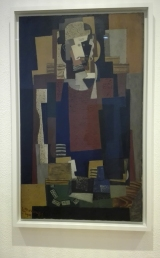 """L'Habitué"" (1920) by Louis Marcoussis @ Peggy Guggenheim Collection"