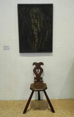 """Nudo (studio), Giovane triste in treno"" (1911-12) by Marcel Duchamp @ Peggy Guggenheim Collection"