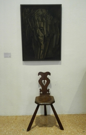 """Nudo (studio), Giovane triste in treno"" (1911-12) by Marcel Duchamp @ Peggy Guggenheim Collection"
