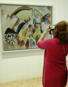 """""""Paesaggio con macchie rosse, n. 2"""" (1913) by Vasily Kandinsky @ Peggy Guggenheim Collection"""
