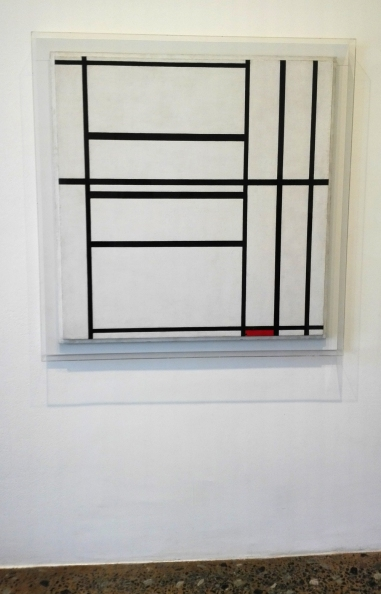 """Composition with grey and red"" (1939) by Piet Mondrian @ Peggy Guggenheim Collection"